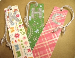 DIY Initial Bookmarks