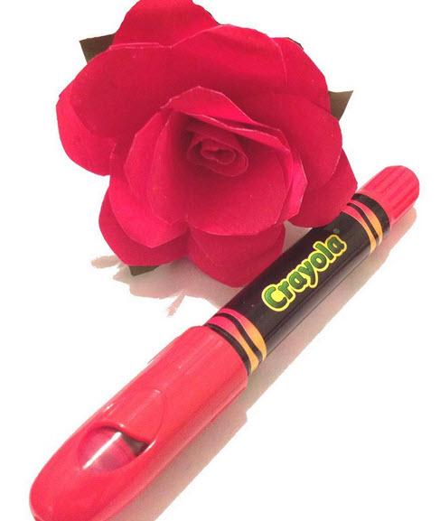 crayola paper rose