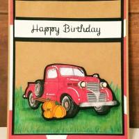 Masculine Card Idea//Old-Fashioned Truck