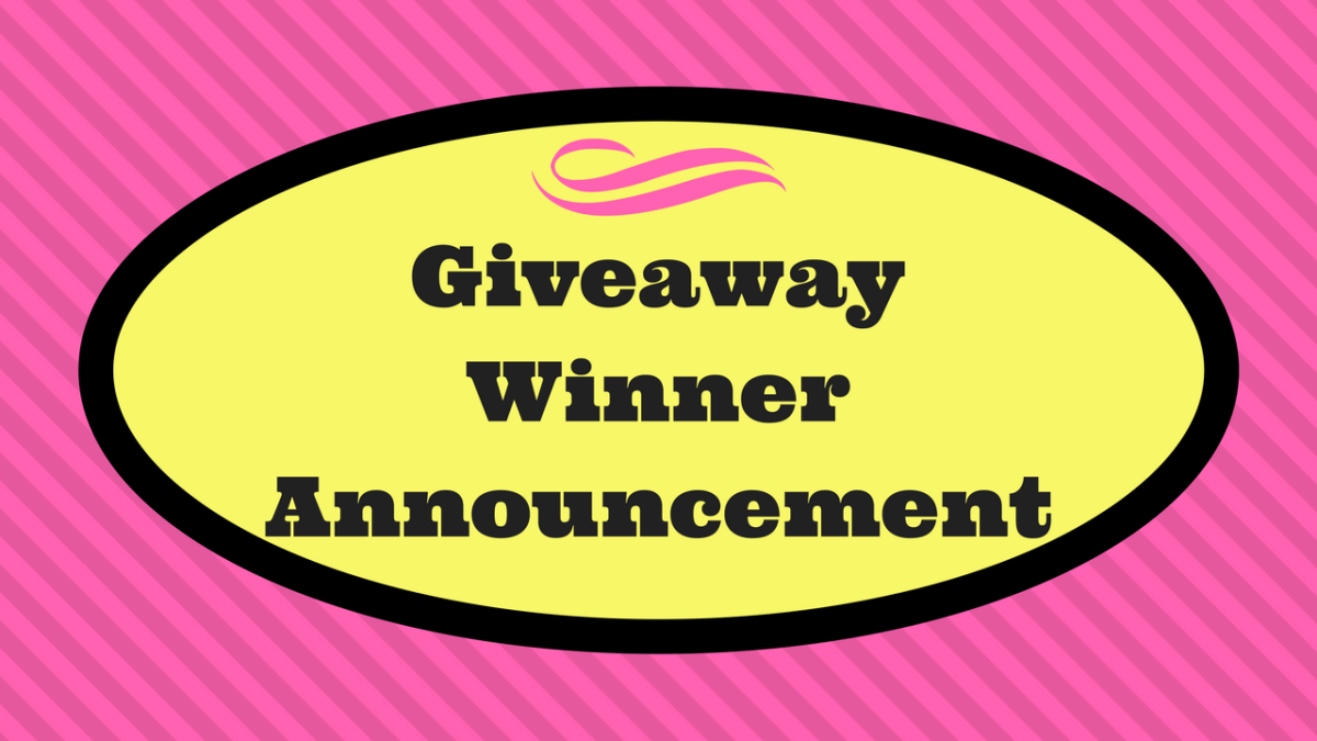 Giveaway Winner Announcement!!!