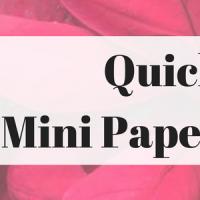 Quick Craft: Mini Paper Poinsettias