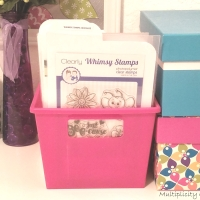 DIY Stamp & Die Storage From Dollar Tree