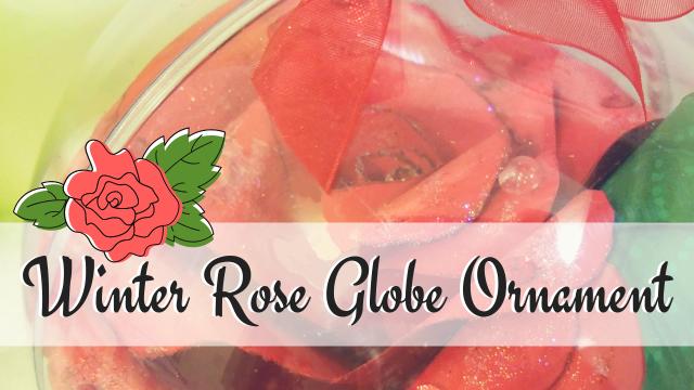 Winter Rose Globe Ornament